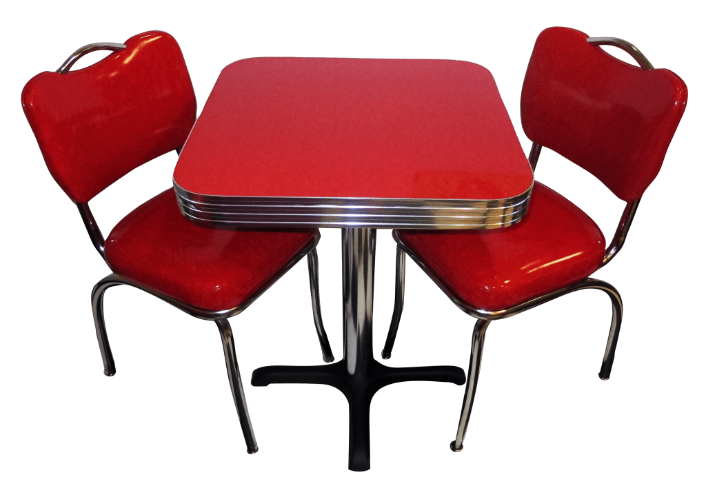 retro cafe table and chairs large chaise lounge chair seating restaurant home chrome diner
