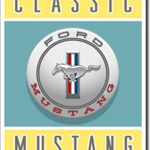FORD - Classic Mustang Tin Sign