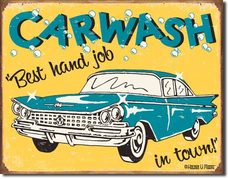 Moore - Carwash Tin Sign