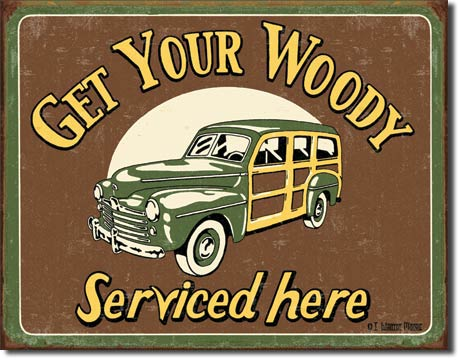 Moore - Woody Service Tin Sign