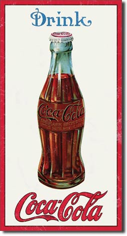 COKE - 1915 Bottle Tin Sign