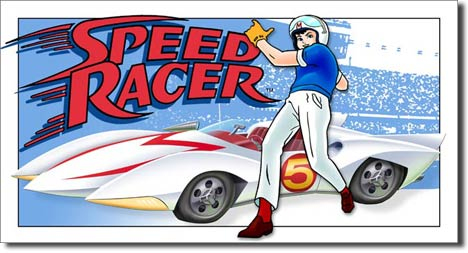 Speed Racer with Mach 5 Tin Sign