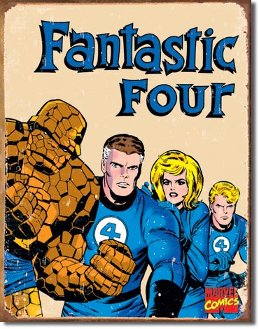 Fantastic Four Retro Tin Sign