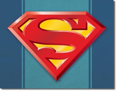Superman Logo Tin Sign