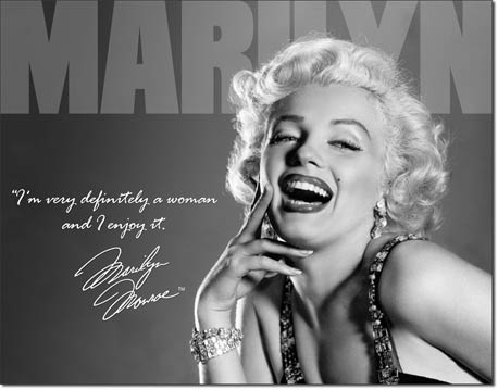 Marilyn - Definitely Tin Sign