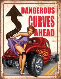 Legends - Dangerous Curves Tin Sign