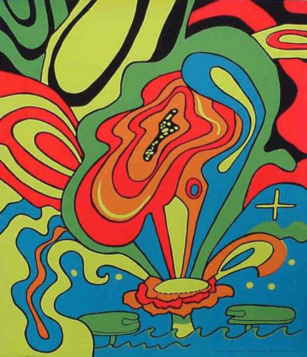 Dreaming Lotus Black Light Poster 1967