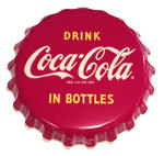 "Coca-Cola Button - ""In Bottles"""