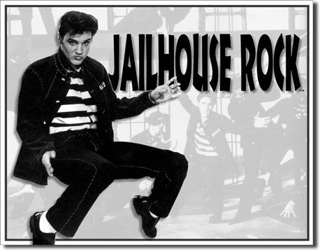 Elvis - Jailhouse Rock Tin Sign