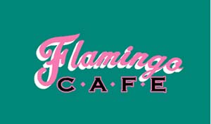 FLA-002 - Flamingo Cafe Teal Decal