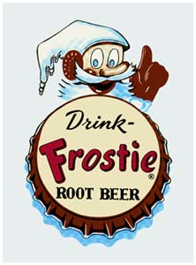 FRO-MAN Frostie Character and Bottle Cap Decal
