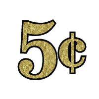 GOLDLEAF-001 - 5 Cents Decal