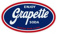 "Enjoy Grapette Soda - 10.5"" x 18"""