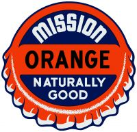 "Mission Orange Decal - 11.75"" x 12"""