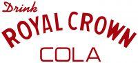 "Drink Royal Crown Cola - 5.25"" x12"" (Pre-1950) Old Style Red Cut Vinyl"