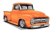 TRK-001 - Hot Rod Truck Decal