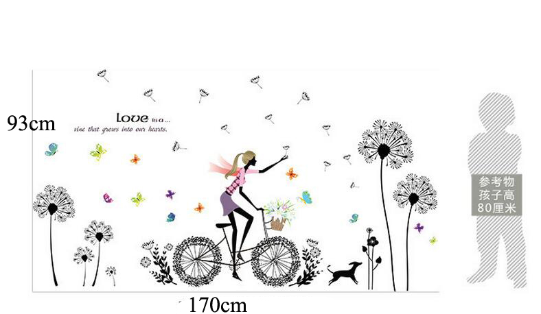 With Out Cloth Girl Wallpaper Xl8212 Modern Dandelion Girl Fashion Creative Girl Bedroom