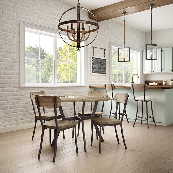 chair and matching stool ikea pink desk mixing bar stools chairs in your kitchen barstool this photo bean dining