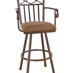 Bar Chairs With Arms And Backs Crate Barrel Wicker Dining Callee Arcadia Swivel Stool W Tall Back Free Shipping