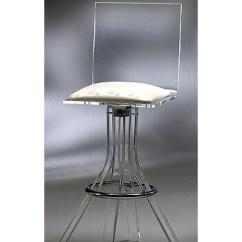 Modern Aluminum Chair Beach Chairs Argos Buy Iclyn Acrylic Swivel Bar Stool By Muniz • Barstool Comforts