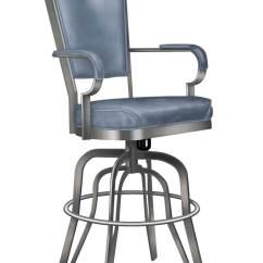 Navy Chair Stool Vanity Lisa Furniture's #2545 Rocking Swivel Bar - Free Shipping!