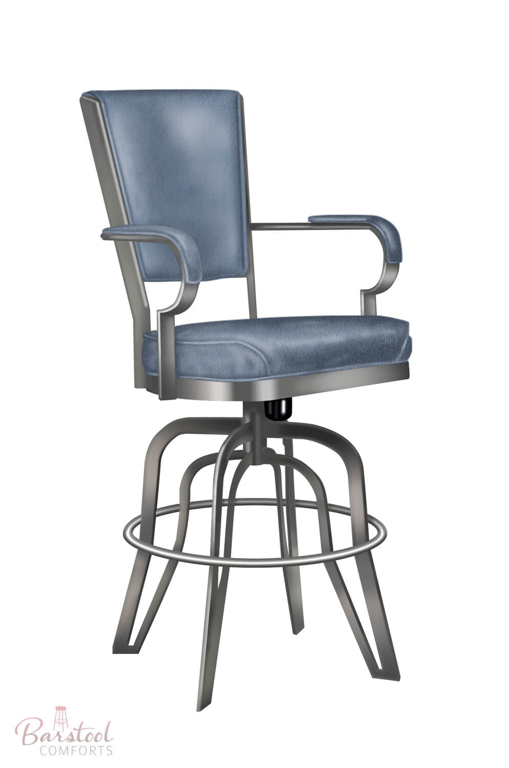 Metal Chairs Lisa Furniture 2545 Rocking Tilt Swivel Bar Stool