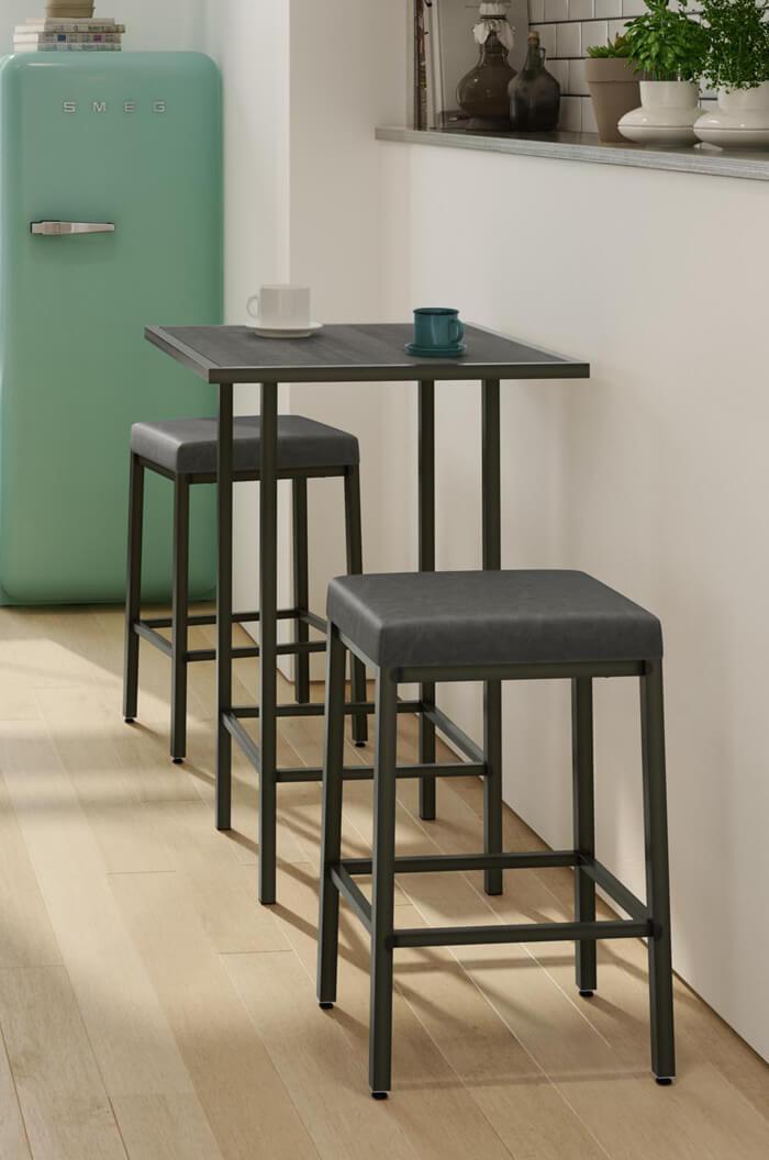 24 inch counter chairs herman miller aeron chair repair manual amisco's bradley narrow depth backless modern stool - free shipping!