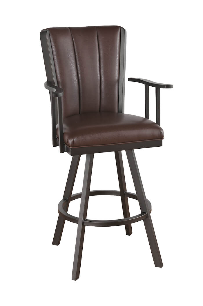 bar chairs with arms and backs gaming chair for big guys callee bogart flex swivel stool back reclining motion