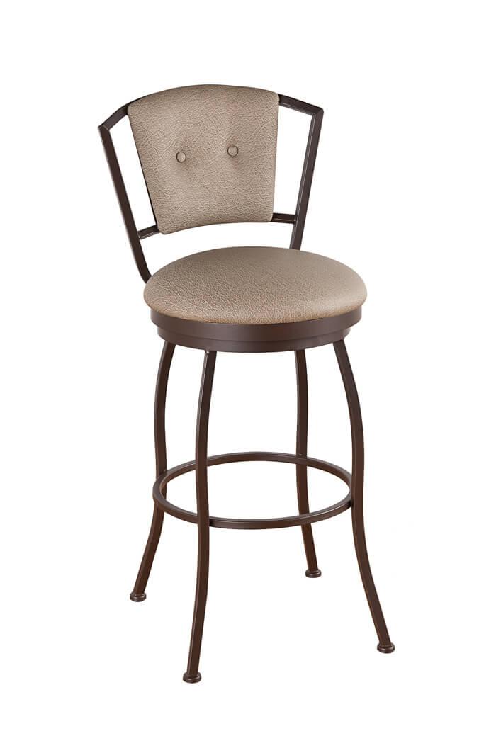 Buy Callees Bristol Swivel Stool w Upholstered Back