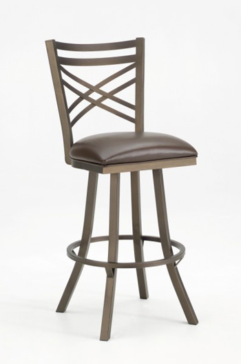 Callee Rebecca Swivel Stool w Flared Legs  Cross Back