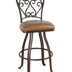 Bar Chairs With Arms And Backs Chair Covers Hobby Lobby Callee Valencia Swivel Stool Swirl Back Design - Free Shipping!