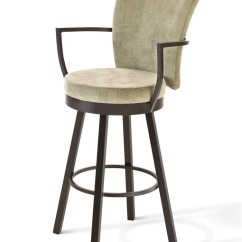 Bar Chairs With Arms And Backs Chair Covers For Sale Philippines Amisco Cardin Upholstered Swivel Stool W Back Ships Free