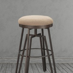 Silver Metal And Wood Dining Chairs Swivel Chair Millberget Review Wesley Allen's Fulham Backless Bar Stool - Free Shipping!