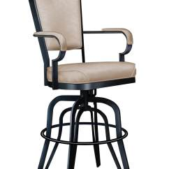 Counter Height Arm Chairs Kore Wobble Chair Lisa Furniture's #2545 Rocking Swivel Bar Stool - Free Shipping!