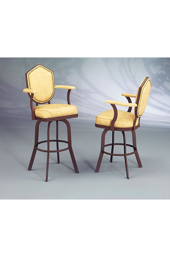 24 inch counter chairs 1800 barber chair #2027 formal swivel bar or stool w/ arms + shield backrest