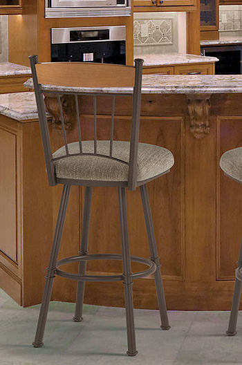 Buy Tricas Allan Swivel Counter Stool w High Back  Free