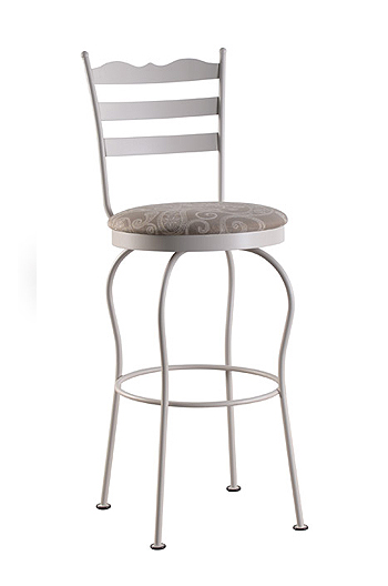 Tricas Latte Swivel Counter or Bar Stool for Cottage