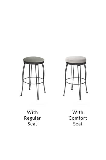 Trica's Pat Backless Swivel Counter Stool w/ Hairpin Legs