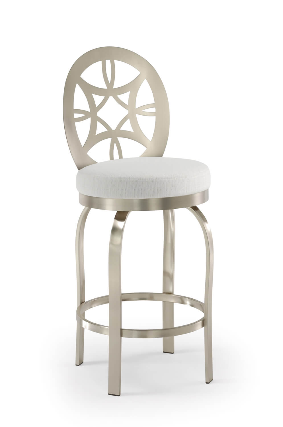Buy Tricas Provence Brushed Stainless Steel Swivel Bar Stool