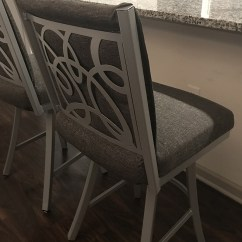 Chair Stool Counter Height Graco Folding High Trica Swirl Swivel W/ Upholstered Back & Pattern - Ships Free!