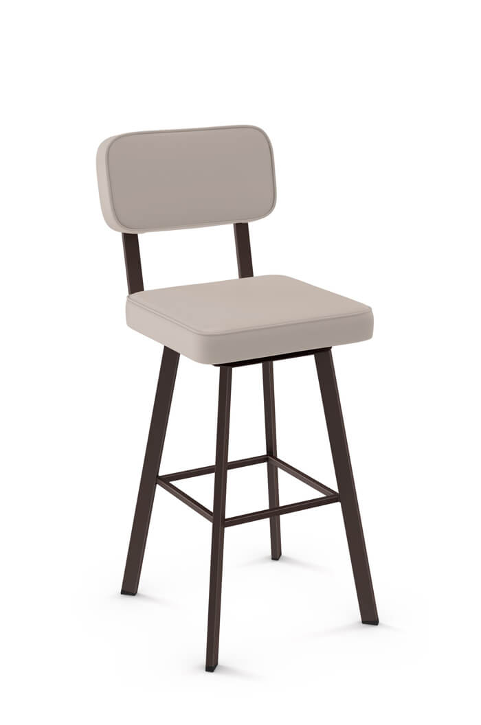 upholstered counter height chairs low cost buy amisco brixton swivel bar stool - free shipping!