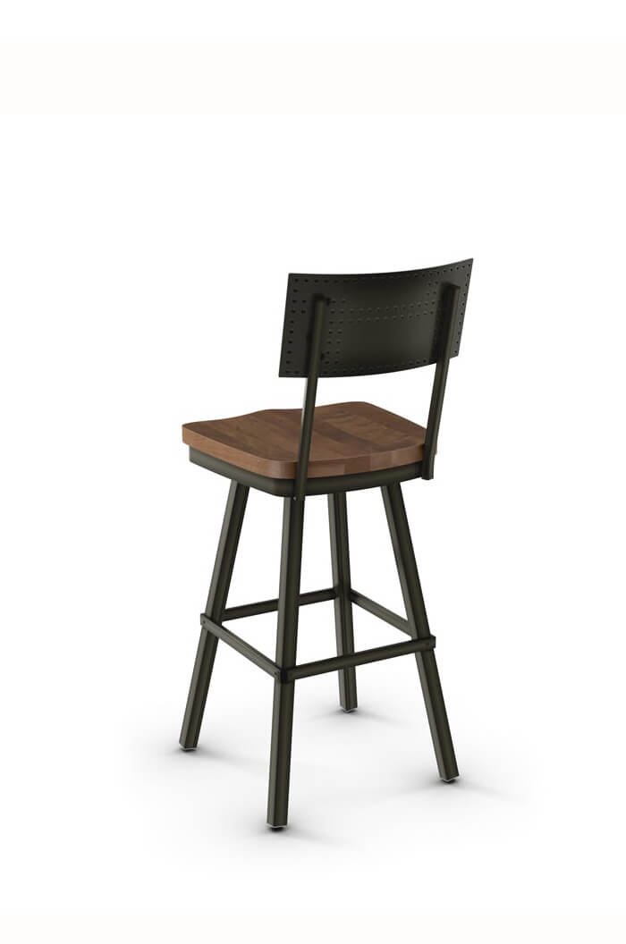 Amisco Jetson Swivel Stool W Wood Seat Free Shipping