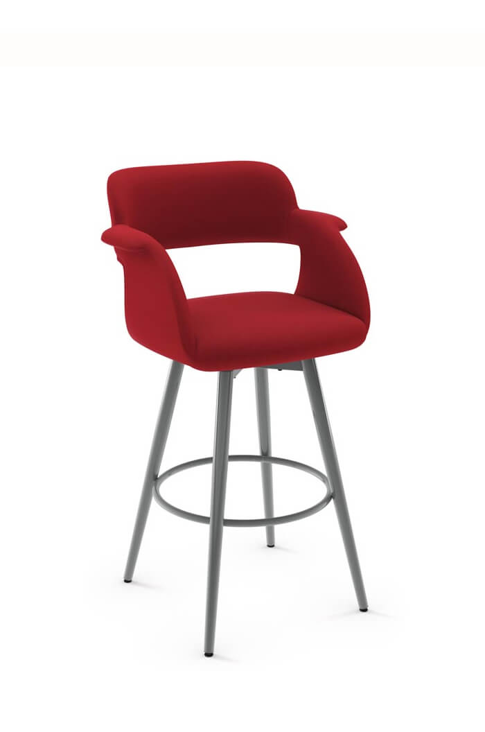 counter height dining chair surf gear beach chairs amisco sorrento swivel stool, modern & comfortable - free shipping!