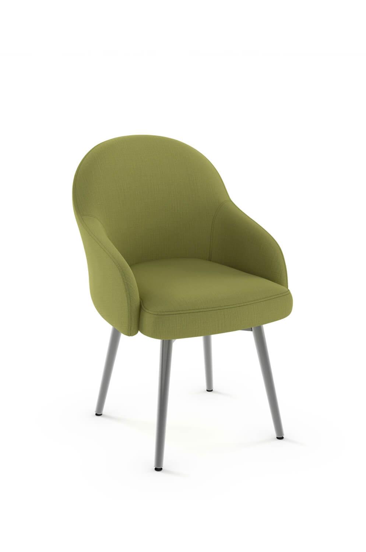 Amisco Weston Swivel Upholstered Elegant Dining Chair