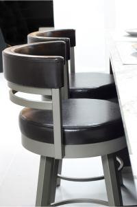 Amisco Ronny Swivel Stool - Free Shipping!  Barstool Comforts