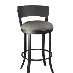 Pub Height Chairs Comfy Pc Gaming Chair Callee Bailey Swivel Bar Stool W/ Metal Back, Modern - Free Shipping!