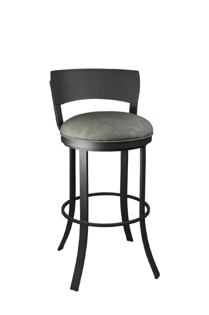 swivel chair black garden cushion covers uk callee bailey bar stool w/ metal back, modern ...