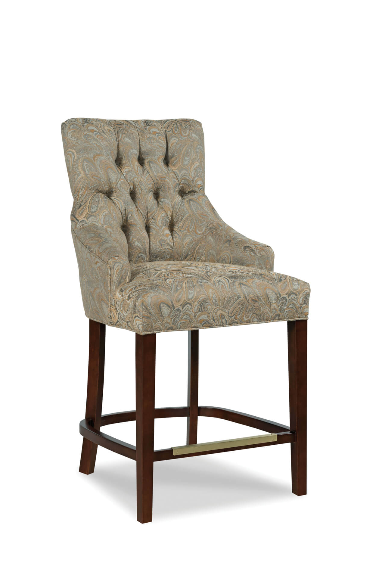 Fairfield Chairs Clancy Upholstered Wooden Stool With Arms