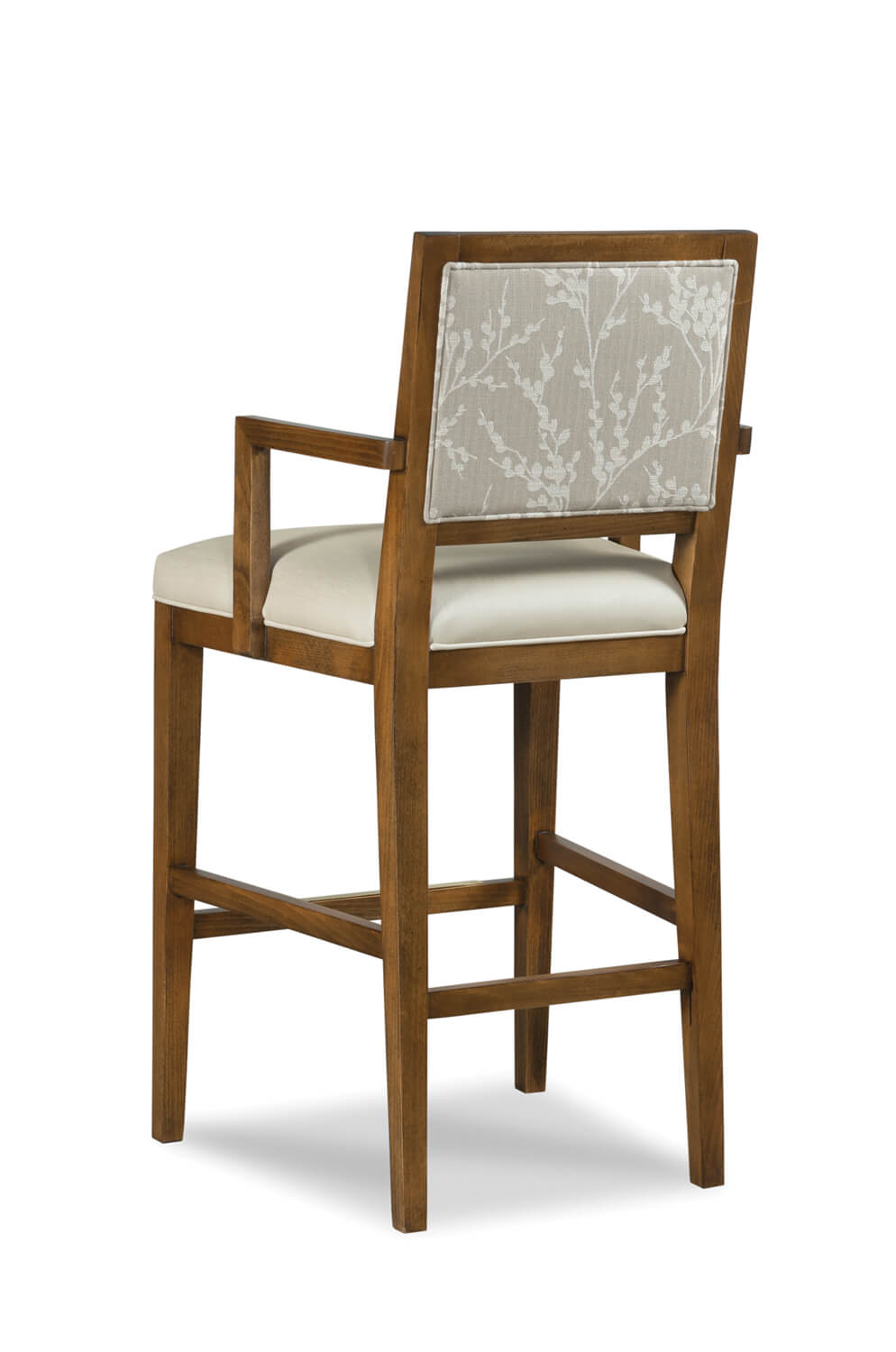 Wood Bar Chairs Potter Upholstered Wooden Stool With Arms