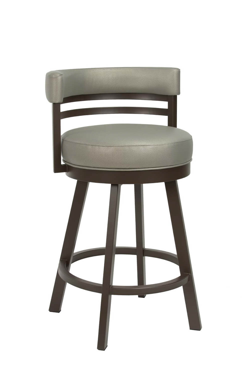 Buy Wesley Allen S Miramar Swivel Stool With Low Back Free Shipping